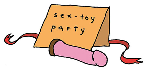 Sex toy party! Illustration by Bleached Whale