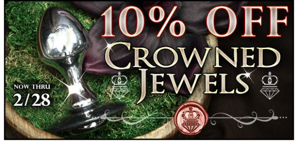 10% off Crowned Jewels aluminum toys, through 2/28!