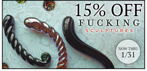15% off Fucking Sculptures at SheVibe, through 1/31!