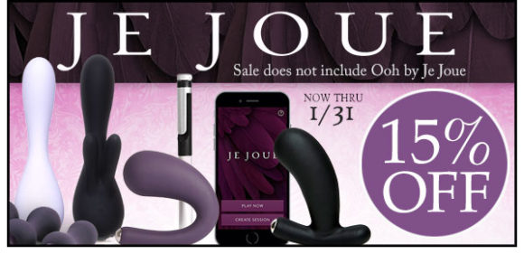 15% off Je Joue at SheVibe, through 1/31.