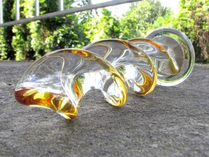 Crystal Delights Crystal Twist Color glass dildo