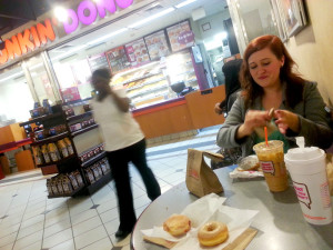 Dunkin Donuts with Kayla