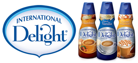 International Delight logo and creamer line-up