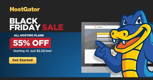 55% off hosting at HostGator this Black Friday!