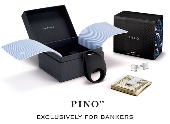 """LELO Pino... a cock ring """"exclusively for bankers"""""""