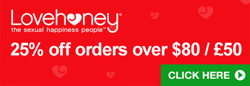 25% off orders over $80 at Lovehoney this Black Friday!