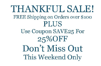 25% off with SAVE25 and free shipping on orders over $100