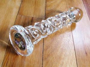 Crystal Delights Ash Girl glass dildo