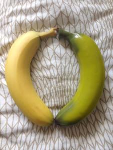 Real banana vs. SelfDelve banana dildo