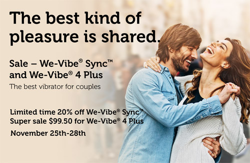 Sale on We-Vibe 4 Plus and We-VIbe Sync!