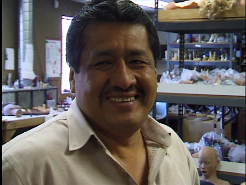 Dildo molding guy at Topco, smilin'
